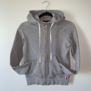 2/$50 XXS Aritzia TNA grey zip up hoodie